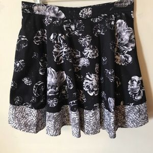 Prabal Gurung Fit and Flare Floral Skirt